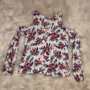 Floral Cold Shoulder Charlotte Russe Top